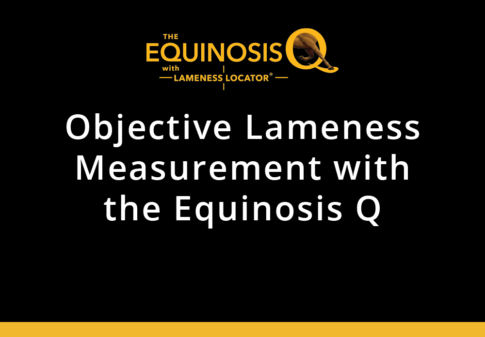 Objective Lameness Measurement with the Equinosis Q For Veterinary Students