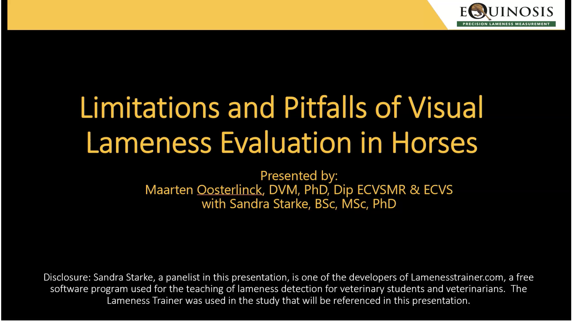 Limitations and Pitfalls of Visual Lameness Evaluation in Horses (RACE-Approved)